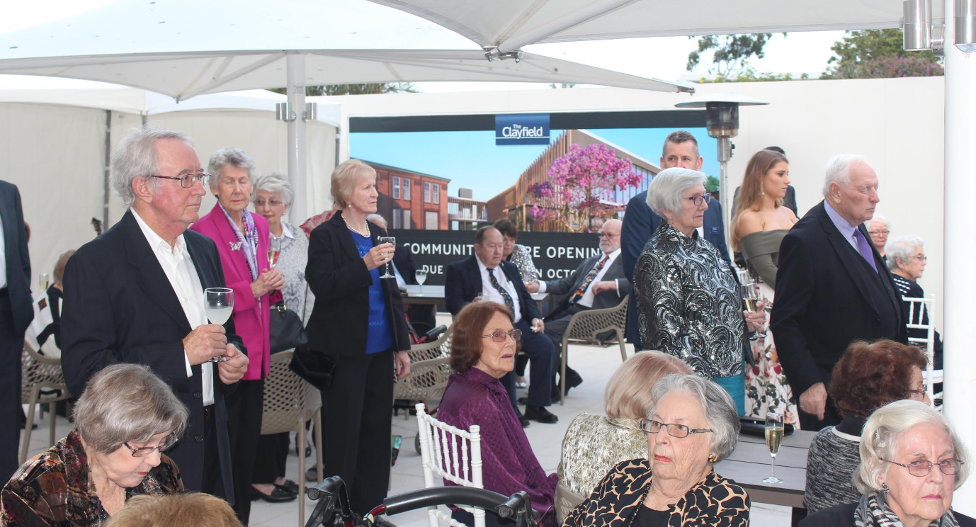 seniors living clayfield grand opening